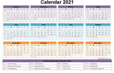 Free Printable 2021 Monthly Calendar with Holidays Free Editable 2021 Calendars In Word Printable Calendar